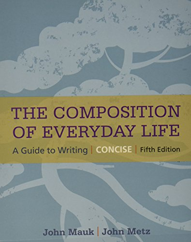 9781305526174: Bundle: The Composition of Everyday Life, Concise, 5th + MindTap English Printed Access Card