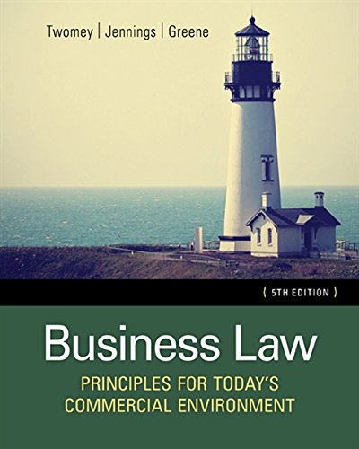 9781305575158: Business Law: Principles for Today's Commercial Environment