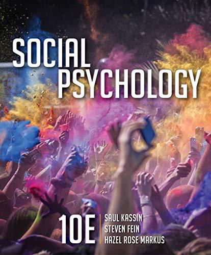 Social Psychology (Hardback): Saul M. Kassin,
