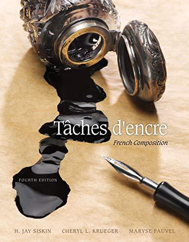 9781305580282: Taches d'encre: French Composition (World Languages)