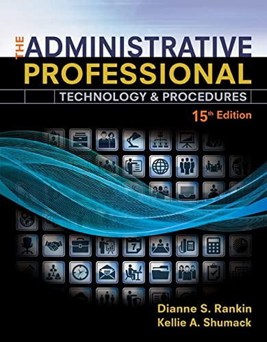 9781305581166: The Administrative Professional: Technology & Procedures, Spiral bound Version