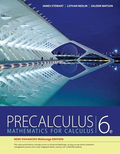 Precalculus, Enhanced WebAssign Edition (with Enhanced WebAssign: James Stewart; Lothar