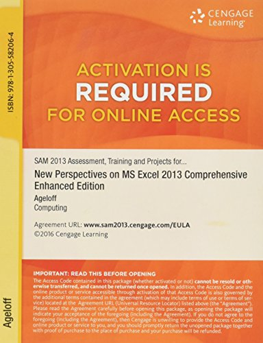 9781305582064: SAM 2013 Assessment, Training, and Projects with MindTap Reader, v3.0 Multi-Term Printed Access Card for New Perspectives on Microsoft Excel 2013, Comprehensive Enhanced Edition
