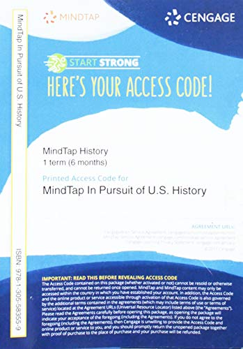 9781305583559: MindTap U.S. History, 1 term (6 months) Printed Access Card
