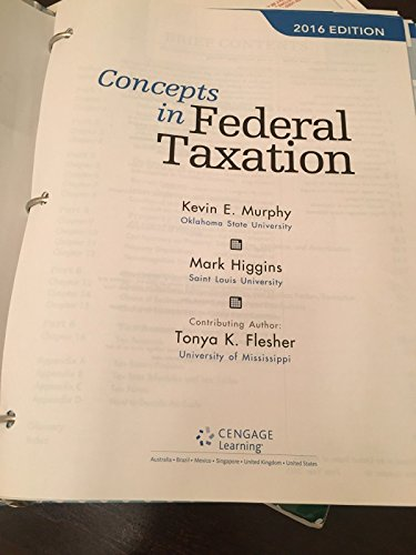 9781305585157: Concepts in Federal Taxation 2016 (with H&R Block(TM) Tax Preparation Software CD-ROM and RIA Checkpoint Printed Access Card)