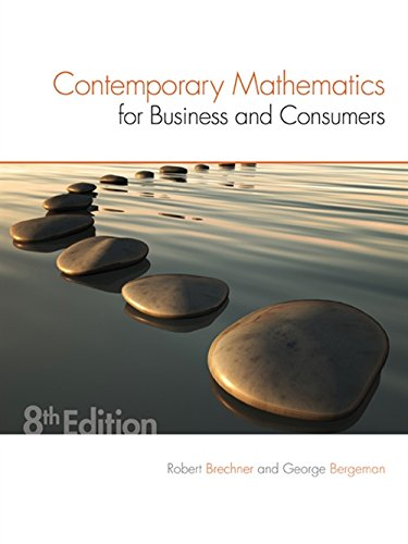 9781305585447: Contemporary Mathematics for Business & Consumers