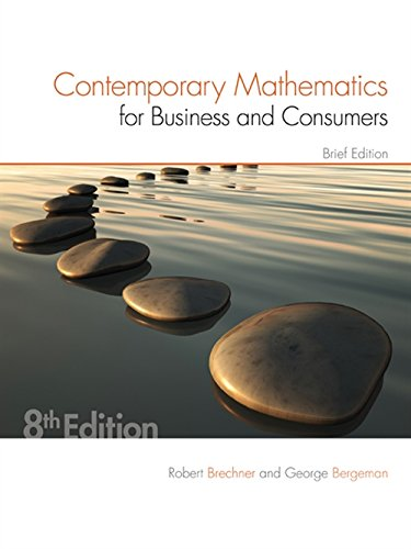 9781305585454: Contemporary Mathematics for Business & Consumers, Brief Edition