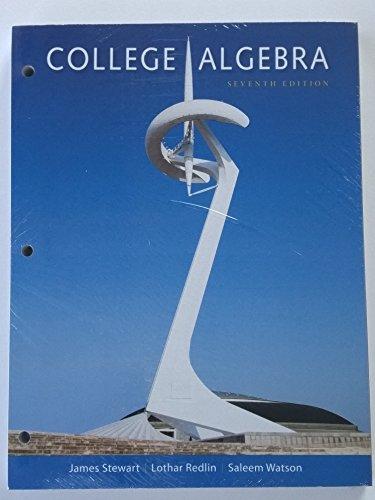 9781305586031: College Algebra 7th Edition Loose Leaf James Stewart