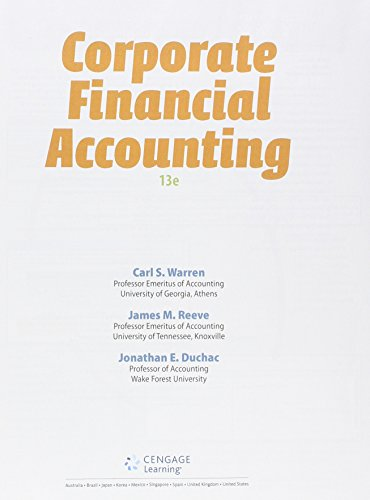 9781305617025: Bundle: Corporate Financial Accounting, Loose-Leaf Version, 13th + CengageNOWv2, 1 term Printed Access Card