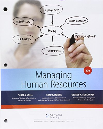 9781305617322: Bundle: Managing for Human Resources, Loose-Leaf Version, 17th + Aplia, 1 term Printed Access Card