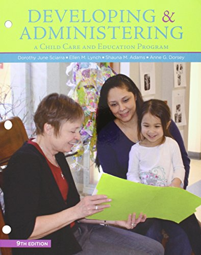 9781305621541: Bundle: Developing and Administering a Child Care and Education Program, Loose-leaf Version, 9th + MindTap Education, 1 term (6 months) Printed Access Card