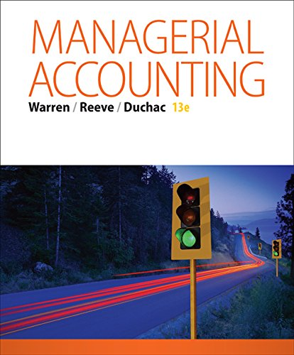 9781305622890: Bundle: Managerial Accounting, 13th + Working Papers, Volume 2, Chapters 16-27