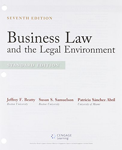 9781305625846: Bundle: Business Law and the Legal Environment, Standard Edition, Loose-leaf Version, 7th + MindTap Business Law, 2 terms (12 months) Printed Access Card