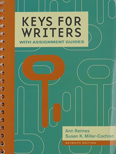 9781305626843: Bundle: Keys for Writers with Assignment Guides, 7th + LMS Integrated for MindTap English, 1 term (6 months) Printed Access Card