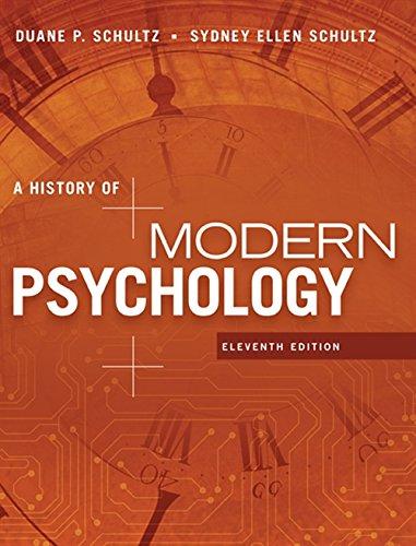 A History of Modern Psychology (Hardback): Duane Schultz, Sydney
