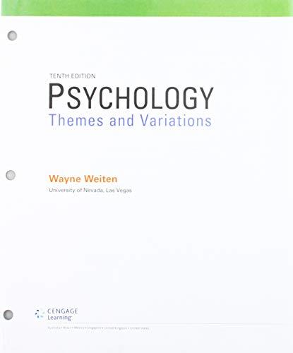 9781305630550: Psychology: Themes & Variations, Loose-leaf Version