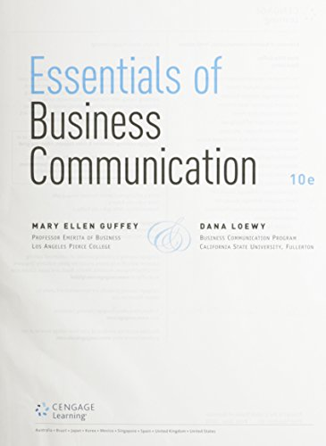 9781305630567: Essentials of Business Communication, Loose-leaf Version (with Premium Website, 1 term (6 months) Printed Access Card)