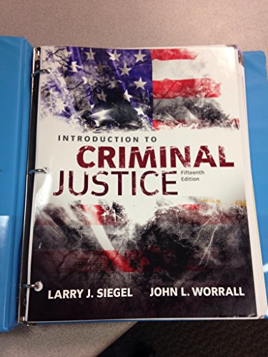 9781305633353: Introduction to Criminal Justice