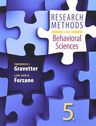 9781305633667: Llf Research Method Behav Sci
