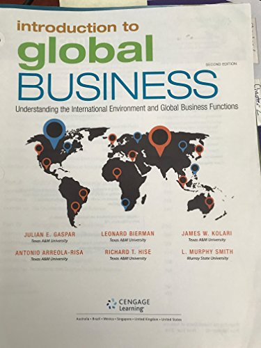 9781305642447: Introduction to Global Business: Understanding the International Environment & Global Business Functions
