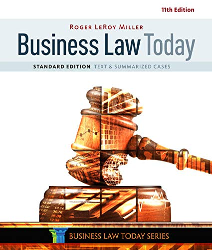 9781305644526: Business Law Today, Standard: Text & Summarized Cases