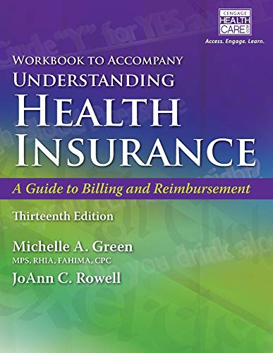 9781305647435: Student Workbook for Green's Understanding Health Insurance: A Guide to Billing and Reimbursement, 13th