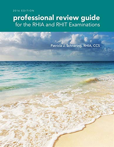 9781305648609: Professional Review Guide for the RHIA and RHIT Examinations, 2016 Edition includes Quizzing, 2 terms (12 months) Printed Access Card