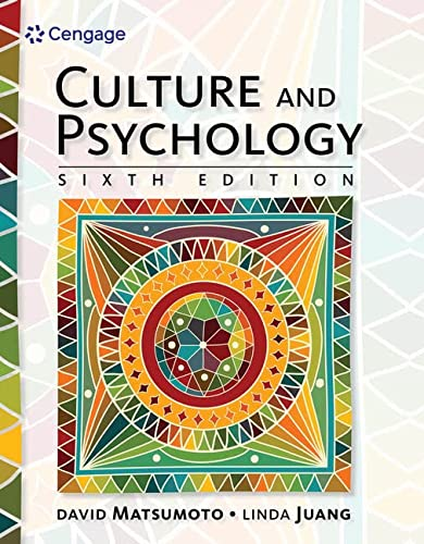 9781305648951: Culture and Psychology
