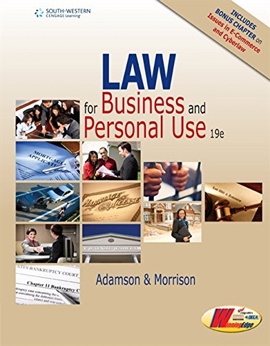 9781305653009: Law for Business and Personal Use, Copyright Update, 19E