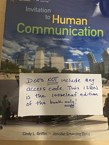 9781305655164: Invitation to Human Communication - National Geographic, Loose-leaf Version