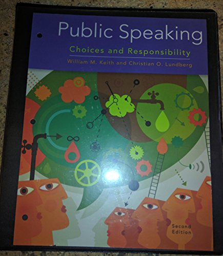 9781305655171: Public Speaking: Choices and Responsibility, Loose-leaf Version