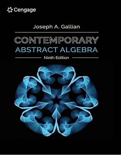 joseph a gallian contemporary abstract algebra 9th edition pdf