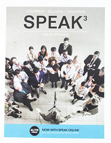 9781305659483: Speak3; Public Speaking