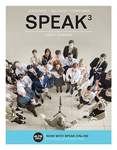 SPEAK: (with Online, 1 term (6 months): Verderber, Kathleen S.;