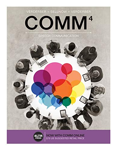 COMM (with COMM Online, 1 term (6: Verderber, Rudolph F.;