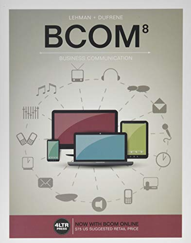 9781305660861: BCOM (with BCOM Online, 1 term (6 months) Printed Access Card) (New, Engaging Titles from 4LTR Press)