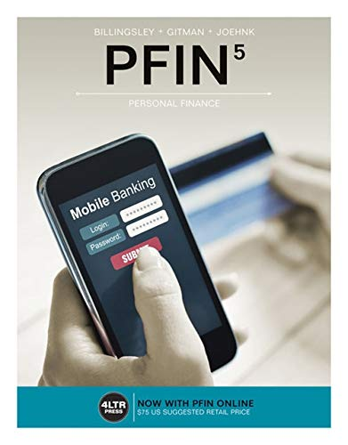 9781305661707: PFIN (with PFIN Online, 1 term (6 months) Printed Access Card) (New, Engaging Titles from 4LTR Press)