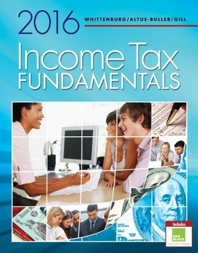 9781305664487: Income Tax Fundamentals 2016 (with H&r Block Premium & Business Access Code)