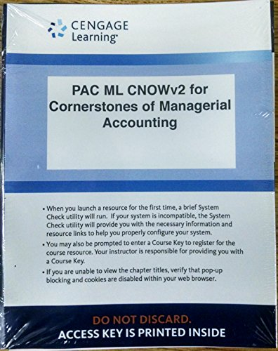 9781305664685: CengageNOW™v2, 1 term Printed Access Card for Mowen/Hansen/Heitger's Cornerstones of Managerial Accounting, 6th