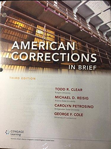 9781305664968: American Corrections in Brief, Loose-leaf Version
