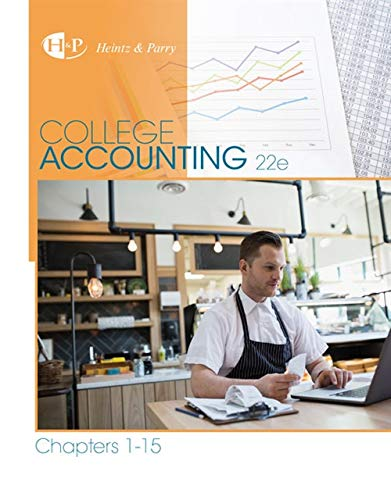 9781305666177: College Accounting, Chapters 1-15 (New in Accounting from Heintz and Parry)