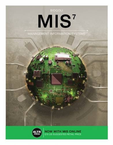 MIS (with MIS Online, 1 term (6: Bidgoli, Hossein