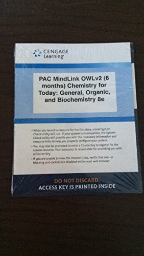 9781305672895: Chemistry for Today: General, Organic, and Biochemistry 8e Access Key