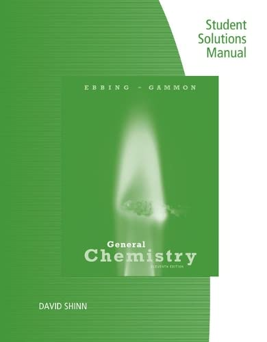 9781305673472: Student Solutions Manual for Ebbing/Gammon's General Chemistry, 11th