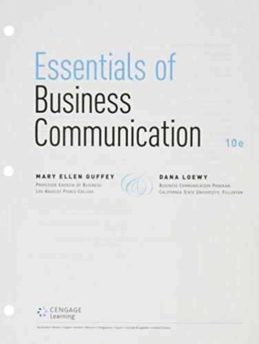 9781305699748: Bundle: Essentials of Business Communication, Loose-Leaf Version, 10th + Premium Website, 1 term (6 months) Printed Access Card + MindTap Business Communication, 1 term (6 months) Printed Access Card
