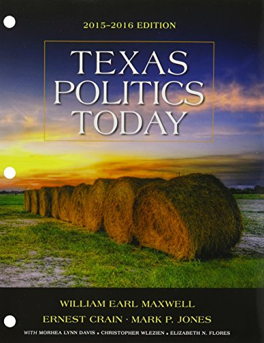 9781305701083: Bundle: Texas Politics Today 2015-2016 Edition, Loose-leaf Version, 17th + MindTap Political Science, 1 term (6 months) Printed Access Card