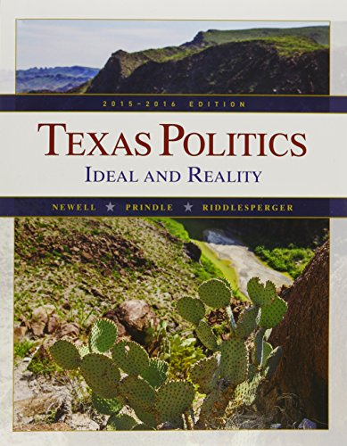 Bundle: Texas Politics: Ideal and Reality, 2015-2016, Loose-leaf Version, 13th + MindTap Political ...