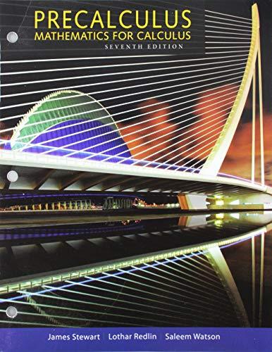 9781305701618: Bundle: Precalculus: Mathematics for Calculus, 7th + Enhanced WebAssign, 1 term (6 months) Printed Access Card for Pre-Calculus & College Algebra, Single-Term Courses