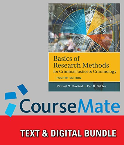 9781305703957: Bundle: Basics of Research Methods for Criminal Justice and Criminology, 4th + CourseMate, 1 term (6 months) Printed Access Card