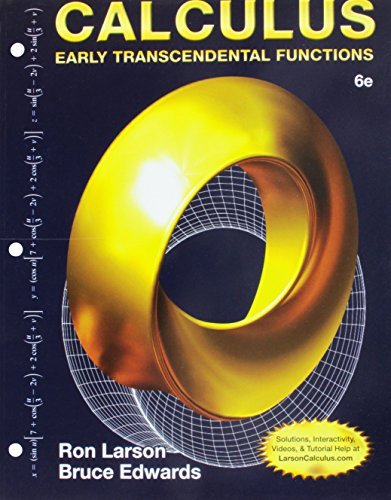 9781305714045: Bundle: Calculus: Early Transcendental Functions, Loose-leaf Version, 6th + WebAssign Printed Access Card for Larson/Edwards' Calculus: Early Transcendental Functions, 6th Edition, Multi-Term